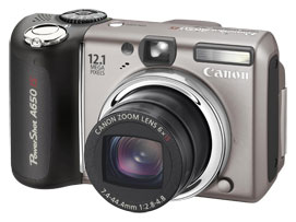 Canon PowerShot A650 IS Digital Camera