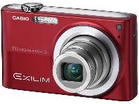 Casio Exilim Z200 10.1 Megapixel Digital Camera - Red EXZ200RDEBC