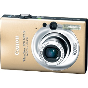 Canon PowerShot SD1100 IS Digital Camera (Gold) with 4GB SD Memory Card + Spare NB-4L Battery + Case...