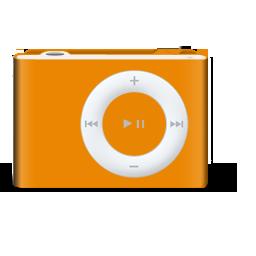 Apple iPod shuffle Orange (1 GB, 250 Songs) MP3 Player (718908928516)
