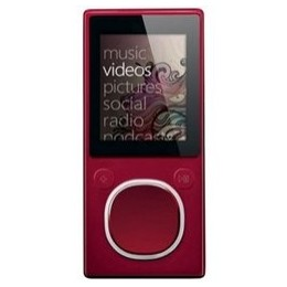 Microsoft Zuner Red (30 GB, 7700 Songs) Digital Media Player
