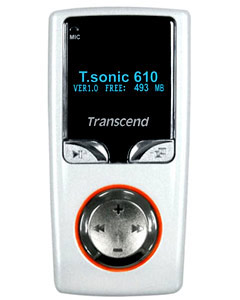 Transcend T.sonic 610 (256MB) MP3 Player