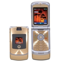 Motorola Motorola RAZR V3i Unlocked GSM Cell Phone - Bluetooth Camera MicroSD Slot Silver