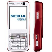 Nokia N73 Red/white Quad-band Unlocked Cell Phone Cellular Phone