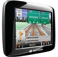 Navigon 2100 Max Portable GPS System - 4.3 Touchscreen Display, Reality View, and Text To Speech GPS Receiver