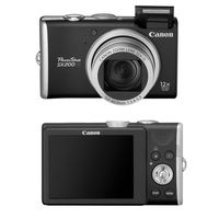 Canon PowerShot SX200 IS Black Digital Camera