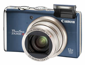 Canon PowerShot SX200 IS Blue Digital Camera