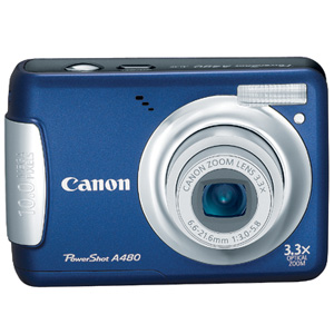 Canon PowerShot A480 Blue Digital Camera