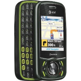 Pantech C740 Matrix Black/Green Cell Phone