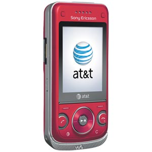 Sony Ericsson W760a Red Cell Phone