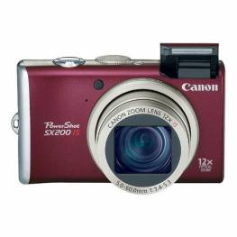 Canon PowerShot SX200 IS Red Digital Camera