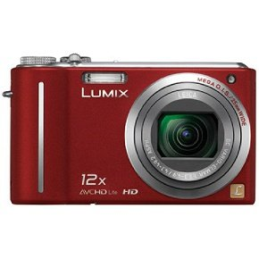 Panasonic Lumix DMC-ZS3R Red Digital Camera  10 1MP  12x Opt  SD MMC SDHC Card Slot