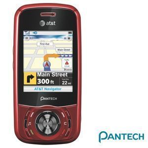 Pantech C740 Matrix Red Cell Phone