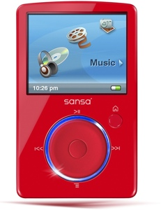 SanDisk Sansa Fuze 4GB Red MP3 Player