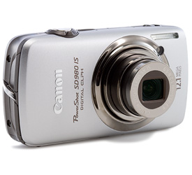 Canon PowerShot SD980 IS Silver Digital Camera