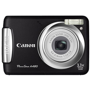 Canon PowerShot A480 Black Digital Camera