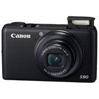 Canon PowerShot S90 Black Digital Camera