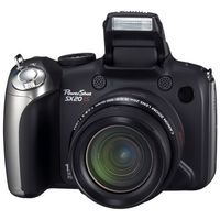 Canon PowerShot SX20 IS Black Digital Camera  12 1MP  20x Opt  MMC SD SDHC Card Slot