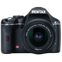 Pentax K-x Black SLR Digital Camera Kit w 18-55mm 50-200mm Lens 12 4MP  SDHC Card Slot