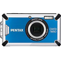Pentax Optio W80 Blue Digital Camera  12 1MP  5x Opt  SDHC Card Slot