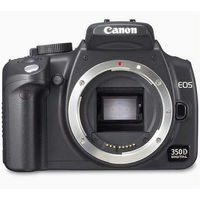 Canon EOS 350D Digital Rebel XT Digital SLR Camera Body Only - Silver  8 0MP  3456x2304  CompactFlash Slot