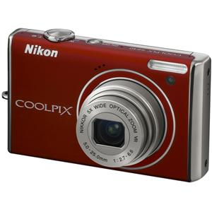 Nikon Coolpix S640 Red Digital Camera  12 2MP  5x Opt  SDHC Card Slot