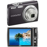 Nikon COOLPIX S230 Black Digital Camera  10MP  3x Opt  SD SDHC Card Slot