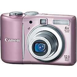 Canon PowerShot A1100 IS Pink Digital Camera  12 1MP  4x Opt  MMC SDHC Card Slot