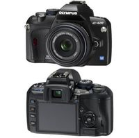 Olympus Evolt E-420 Black SLR Digital Camera Kit  10 0MP  3648x2736  CompactFlash Microdrive xD-Picture Card Card Slot