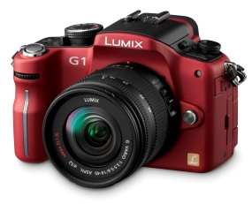 Panasonic Lumix DMC-G1 Red SLR Digital Camera Kit w 14-45mm Lens  12 1MP  SD SDHC Card Slot
