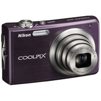 Nikon Coolpix S630 Purple Digital Camera  12MP  7x Opt  SD SDHC Card Slot