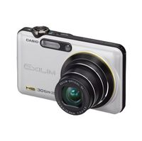 Casio Exilim EX-FC100 White Digital Camera  9MP  5x Opt  SD SDHC Card Slot