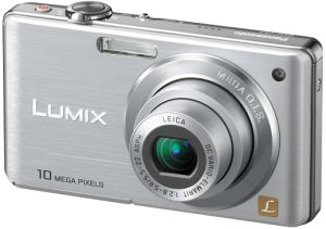Panasonic Lumix DMC-FS7S Silver Digital Camera  10 1MP  4x Opt  MMC SD SDHC Card Slot