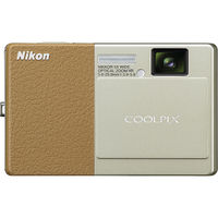 Nikon CoolPix S70 Champagne and Light Brown 12 1 MP 5X Zoom Digital Camera  26175