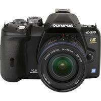 Olympus EVOLT E-510 Black Digital Camera Kit 10 0MP  3648x2736  CompactFlash Microdrive xD-Picture Card Slot