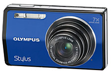 Olympus Stylus 7000 Blue Digital Camera  12MP  7x Opt  xD-Picture Card Slot