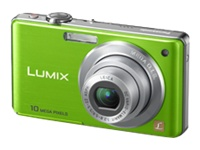 Panasonic Lumix DMC-FS7G Green Digital Camera  10 1MP  4x Opt  MMC SD SDHC Card Slot