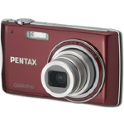 Pentax Optio P70 Red Digital Camera  12MP  4x Opt  SDHC Card Slot
