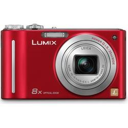 Panasonic Lumix DMC-ZR1R Red Digital Camera  12 1MP  8x Opt  SDHC Card Slot