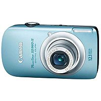 Canon PowerShot SD960 IS Blue Digital Camera  12 1MP  4x Opt  MMC MMCplus SD Memory Card SDHC Memory Card Slot