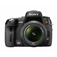 Sony Alpha A500 Black SLR Digital Camera Body Only  12 3MP  Memory Stick PRO Duo SDHC Card Slot