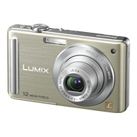 Panasonic Lumix DMC-FS25N Gold Digital Camera  12 1MP  5x Opt  MMC SD SDHC Card Slot