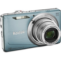 Kodak M381 Digital Camera  12 2MP  5x Zoom  Blue Gray