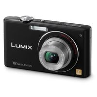 Panasonic Lumix DMC-FX48K Black Digital Camera  12MP  5x Opt  MMC SD SDHC Card Slot