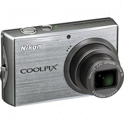 Nikon Coolpix S710 Silver Digital Camera  14 5MP  6-21 6mm  4352x3264  3 6x Opt  42MB Internal Memory  SD SDHC MMC Card Slot