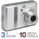 Polaroid i1036 Digital Camera - 10 Megapixel 3x Optical 4x Digital Zoom 2 7 TFT LCD USB SD SDHC Silv