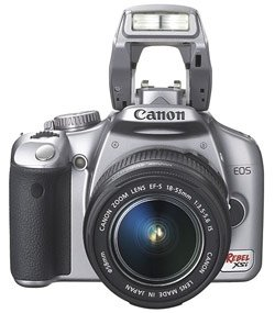 Canon EOS Rebel XSi Silver SLR Digital Camera Body Only  12 2MP  4272x2848  SD SDHC Card Slot