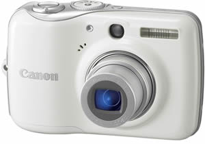 Canon PowerShot E1 White Digital Camera  10MP  4x Opt  SD SDHC Card Slot