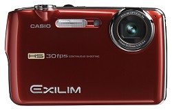 Casio Exilim EX-FS10 Red Digital Camera  9 1MP  3x Opt  SD SDHC Card Slot