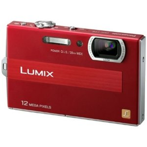 Panasonic Lumix DMC-FP8R Red Digital Camera